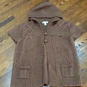 Dress Barn Hooded Cable Knit Cardigan
